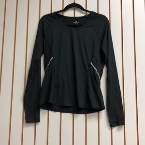 Athleta Black Long Sleeve Shirt w/ Thumb Holes